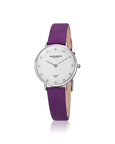 Akribos XXIV Women's AK882PU Velvet Purple Leather Watch