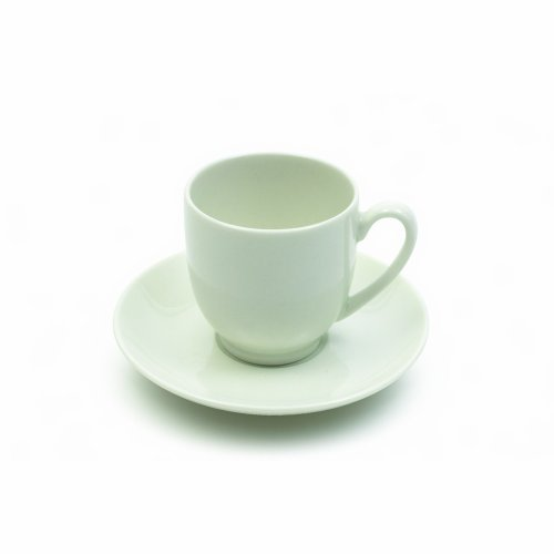 Maxwell And Williams Basics Round Demi Cup And Saucer, 2-Ounce, White