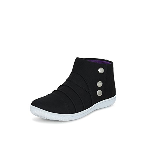 Get Glamr Men Black Canvas Jade Sneakers 10 UK