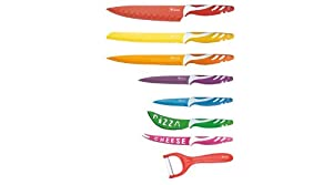 5 Pc Colored Knife Set