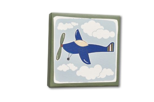 Homeworks Etc Plane Canvas Wall Art, Blue/Grey front-167438