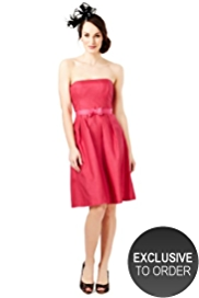 M&S Collection Sleeveless Pleated Dress with Belt