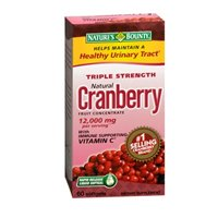 Nature's Bounty Triple Strength Cranberry with Vitamin C