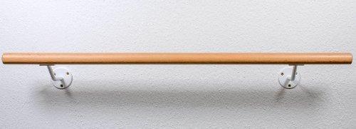Ballettstange, inkl.Halter, 1,30m lang, Ballettstangenset Buche, mit ca.200mm Wandabstand