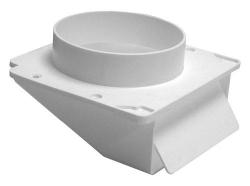 Lambro 143W White Plastic Under Eave Vent, 4-Inch