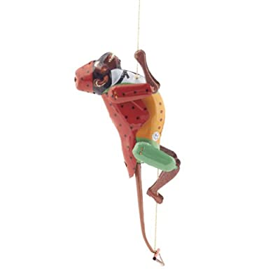 Rope Climbing Monkey Tin Toy