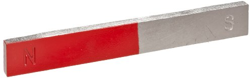 American Educational Chrome Magnet Bar with Painted Red on Each End - 1