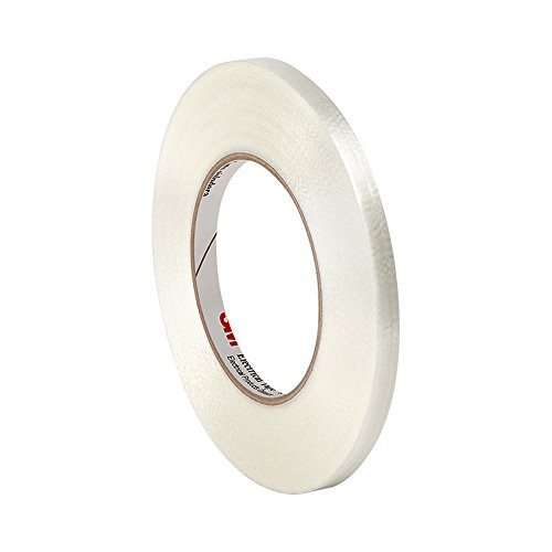 "Tapecase 1139 0.47"" X 60Yd Clear Polyester Film/Glass Filament 3M Reinforced Electrical Tape 1139, 311 Degrees F Performance Temperature, 0.0065"" Thickness, 60 Yd Length, 0.47"" Width"