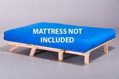 Twin size tri fold futon lounger bed frame only futon for Tri fold futon mattress full size
