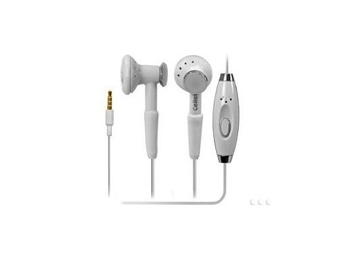 Samsung Galaxy S4 Active Stereo Inside The Ear White Crystal Clear Sound Headphones With Hands Free Microphone And Send/End Button