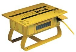 Leviton PB103-SGF 50 Amp, 125/250 Volt, Portable Power Distribution Center, Yellow