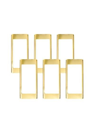 russell+hazel Set of 6 Binder Clips, Gold