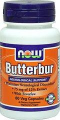 Butterbur Extract 75 mg with Feverfew 200 mg, 60 Vegi Caps