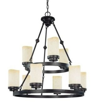 Nuvo 60/2765 Lucern 2-Tier 9-Light Round Chandelier