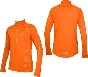 Mens Orange More Mile Alaska Long Sleeved Thermal Hi-Viz running top MM1460