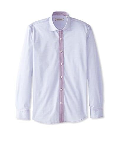 James Campbell Men's Long Sleeve Winston Mix Print Shirt