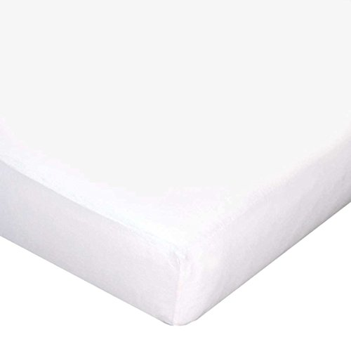 Carter's Jersey Knit Fitted Crib Sheet, White