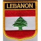 Parche Bordado Bandera Líbano - 7 x 6 cm