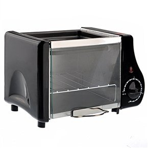 Hdl-9116 2-In-1 Mini Electric Oven Toaster (Black) front-63643