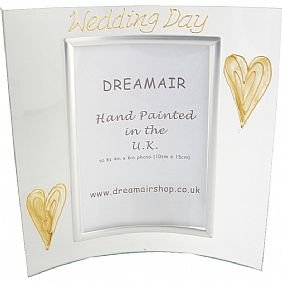 Wedding Day Gift Gold/Cream Hearts (P) Picture