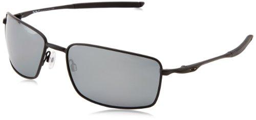 Oakley Square Wire Polarized Rectangular Sunglasses,Matte Black,60 mm