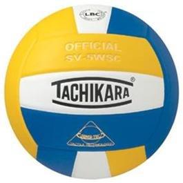 Tachikara Composite Volleyball - Sensi-Tec SV-5WSC, Colored Color: Royal/White/Gold