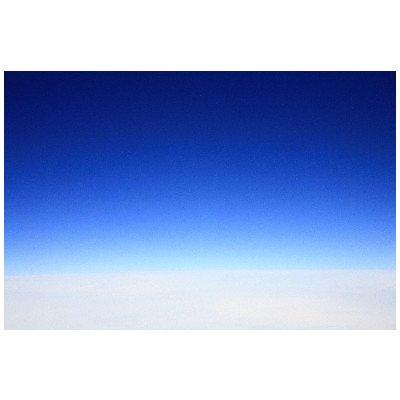 ポストカード「航空機からみた青空と雲・地平線」-絵はがきハガキ葉書postcard