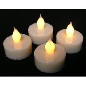 Set 4 Battery Operated Tealight Candles Flameless