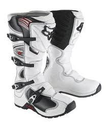 FOX RACING COMP 5 YOUTH BOYS MX BOOT WHITE SIZE UK 7