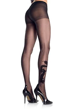 Amazon.com: 9910 Dragon Tattoo Sheer Pantyhose: Clothing