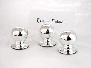 Silver Sphere Place Card Holder