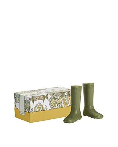 Caswell Massey Pair of Garden Boot Soaps in a Gift Box, Green/Yellow