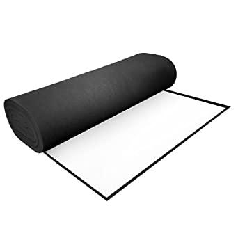 "Black Acrylic Felt With Adhesive - 36"" Wide"