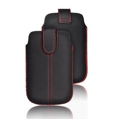 Chic Slim Case M4 Handytasche für Sony xperia J ST26i schwarz Kunstleder Handy Deko Schutz Tasche Hülle