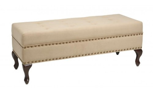 Office Star VCT20-C27 Victoria Tufted Bedroom Bench