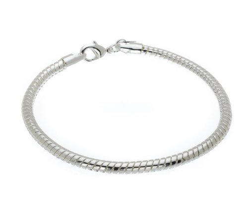 Silver Plated Flat Chain Bracelet by John Greed