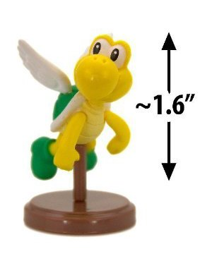 "Koopa Paratroopa (Green Shell) ~1.6"" Mini Figure [Super Mario Choco Egg Mini-Figure Series #3 - NO CANDY] (Japanese Import) - 1"