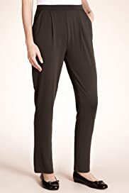 Slim Leg Single Pleat Tapered Trousers [T57-5890-S]