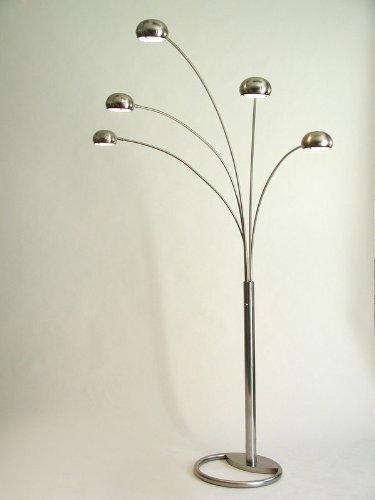 Cheap nova lighting 08046 mushroom 5 halogen light arc for Cheap contemporary floor lamps