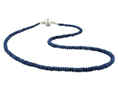 All Natural Sapphire Necklace with Magnetic Clasp