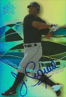 Jorge Sequea, Toronto Blue Jays, 2004 Upper Deck Reflections Autographed Card