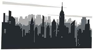Platin Art Wall Decal Deco Sticker, New York Skyline