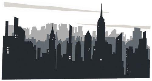 Platin Art Wall Decal Deco Sticker, New York Skyline Part 54