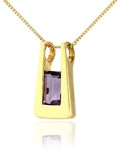 Tuscany Gold Damen-Halskette mit Anhänger 375 Gelbgold 1 Amethyst 46cm 1.44.6924