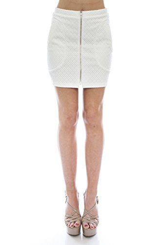 VIRGIN ONLY Women's Quilted Mini Skirt (White, Large) (Womens Quilted Mini Skirt compare prices)