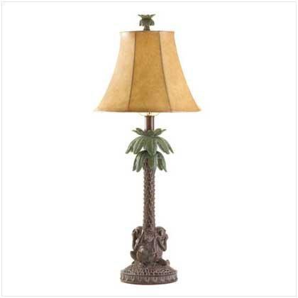 Monkeys Palm Tree Bahama Lamp Tropical Theme Electric front-678450