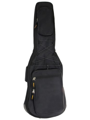 Gearlux B300Eg Deluxe Electric Guitar Gig Bag With Backpack Style Straps And Two Accessory Pouches - Black