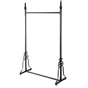 Vintage Style Metal Garment Rack, Freestanding Retail Single Rod Clothing Hanging Display Stand