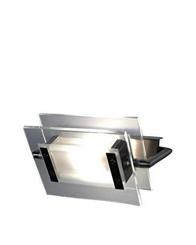 LEUCOS Lámpara de Pared/Techo 360 Gradi 200 Led Nickel Cristal/Metal