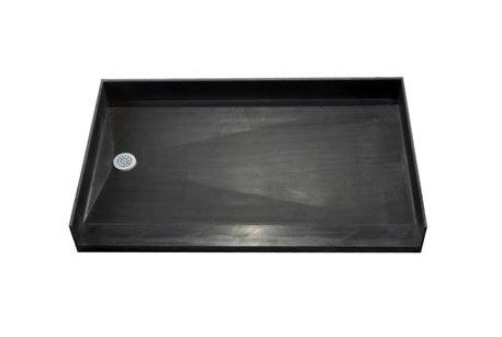 Tile Redi Shower Base 3054LBFBO-PO. 54''W x 30''L x 7''D, Left Hand Drain, Black